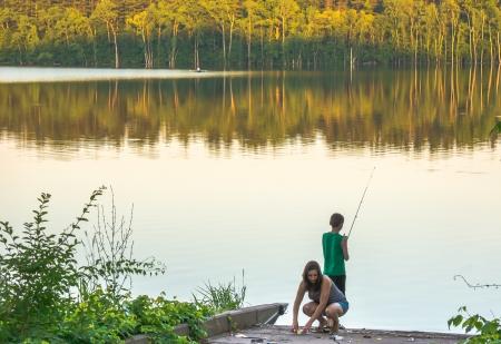 Fishing on West Branch Reservoir