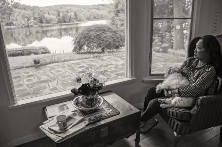 Eirah at the lake house
