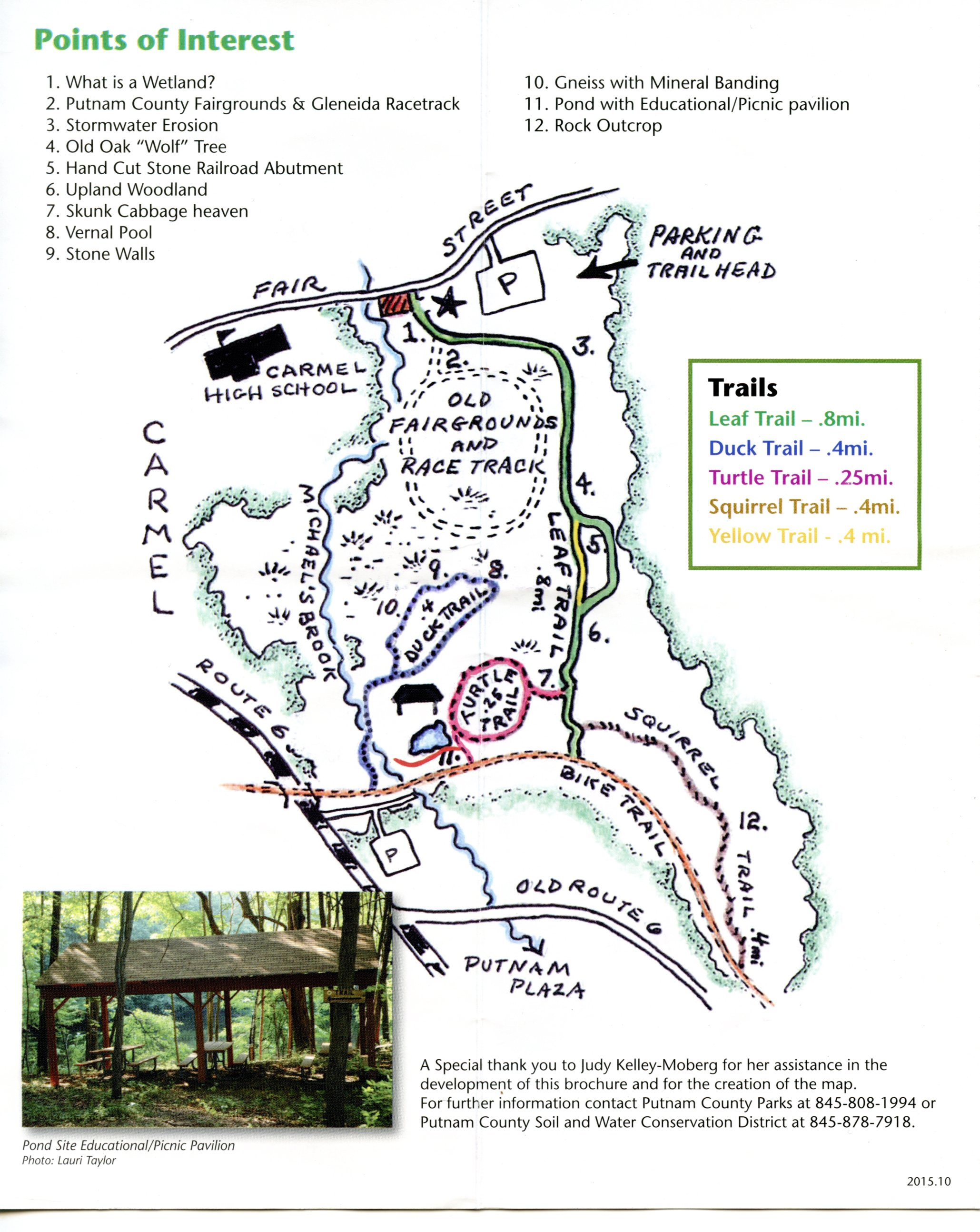 Source: Fred Dill Wildlife Sanctuary and Outdoor Education Center brochure